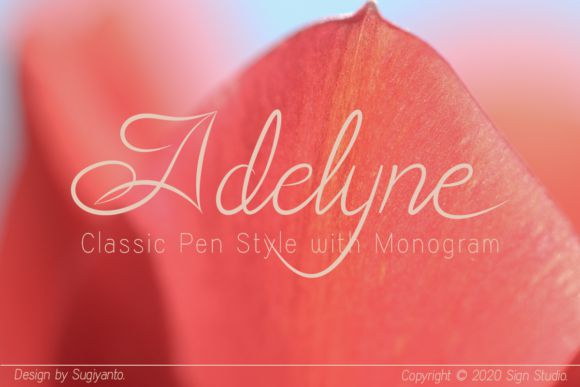 Adelyne Classic Pen Calligraphy Font