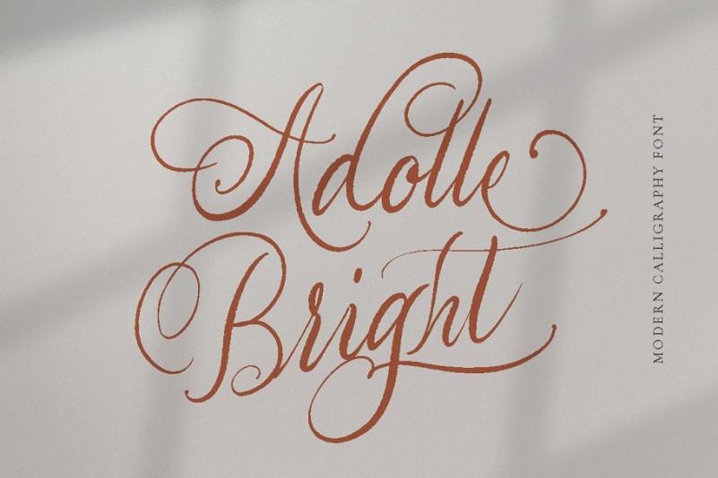 Adolle Bright Script Font-1