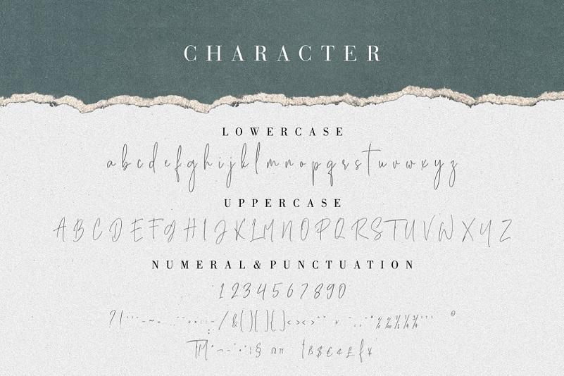 Besties Matthew Signature font-3