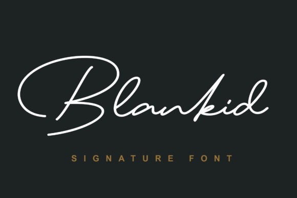 Blankid Signature Font