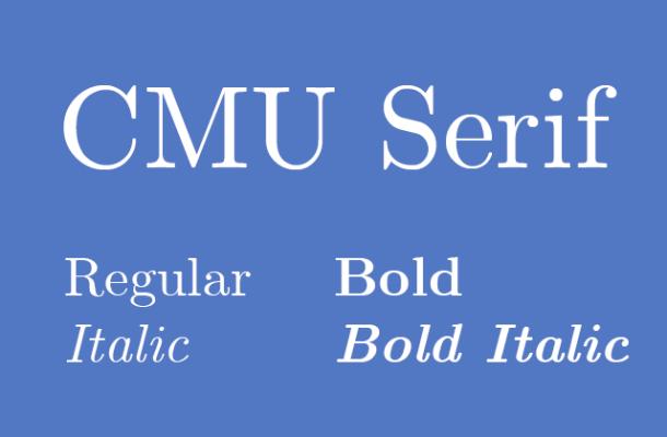CMU Serif Roman Font Family