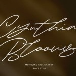 Cynthia Blooms Signature Font