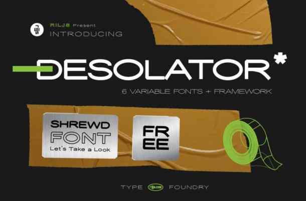 Desolator Sans Serif Font-1