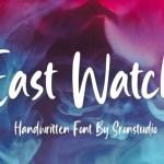 East Watch Bold Handwritten Font