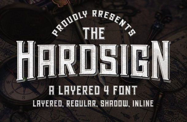 Hardsign Display Font