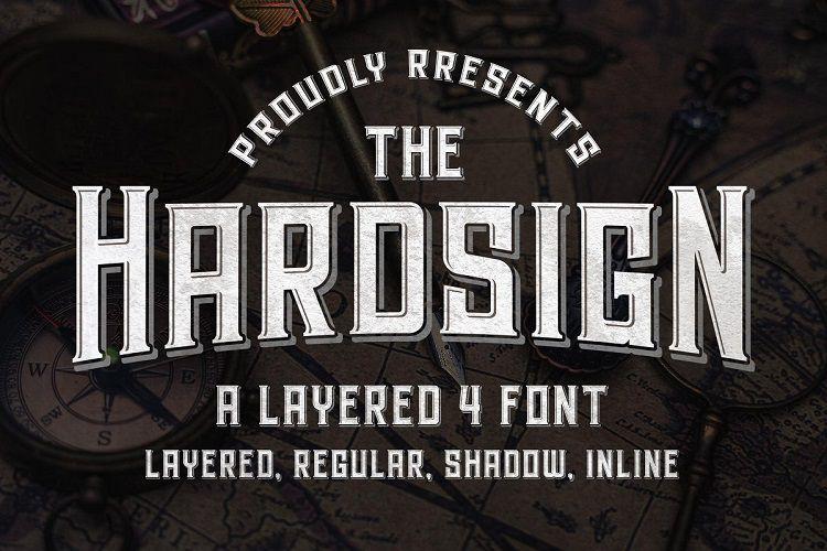 Hardsign Font-1