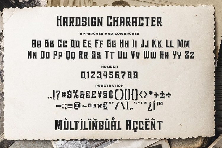Hardsign Font-3