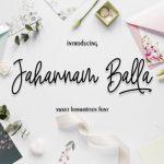 Jahannam Balla Handwritten Font