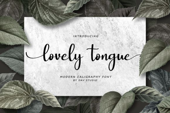 Lovely Tongue Calligraphy Font