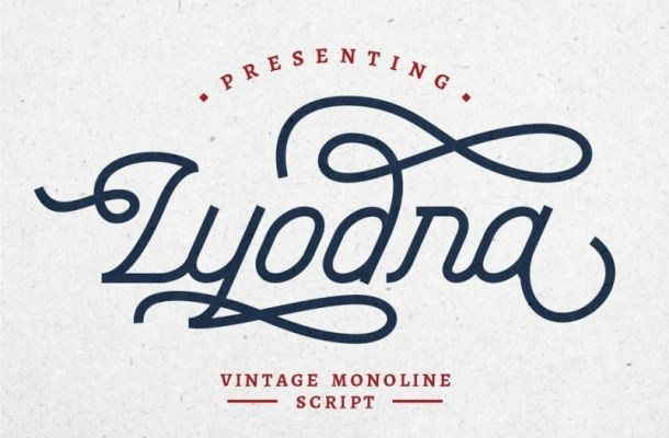 Lyodra Vintage Monoline Script Font-1