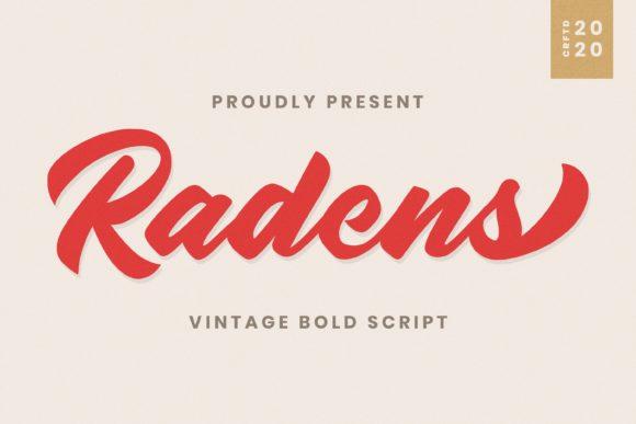 Radens Bold Script Font