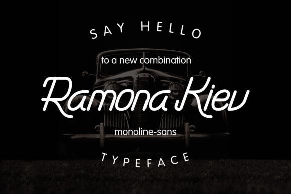 Ramona Kiev Monoline Font