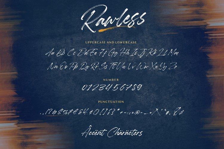Rawless Brush Font-3