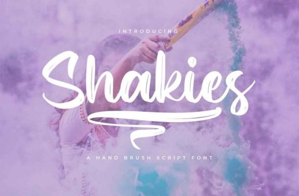 Shakies Brush Font