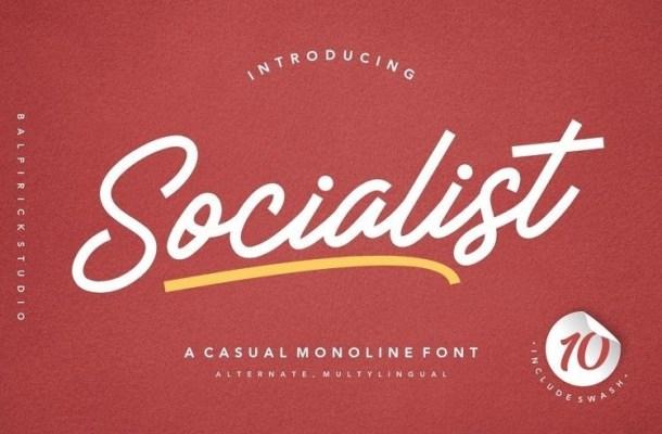 Socialist Casual Monoline Font