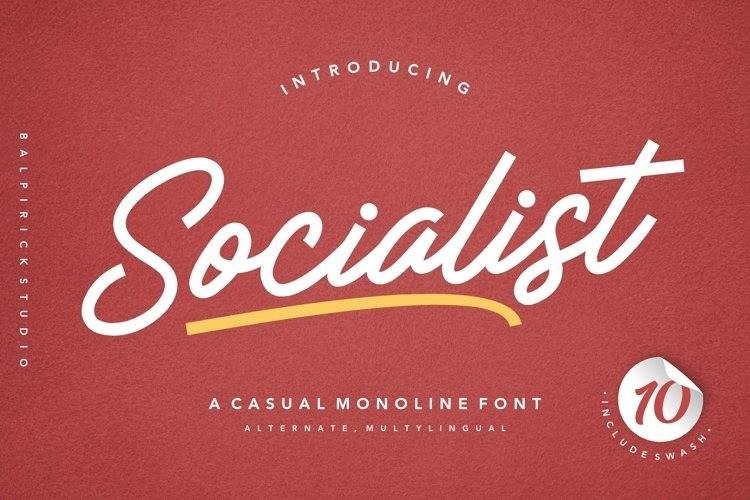 Socialist a Casual Monoline Font