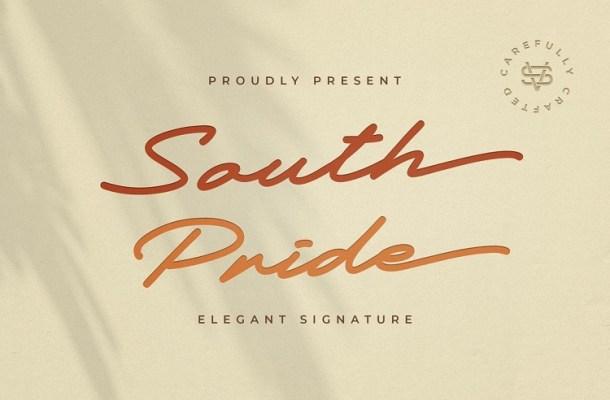 South Pride Luxury Signature Font