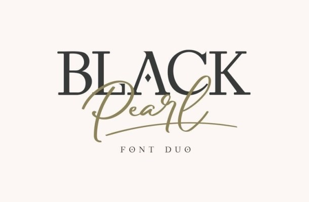 Black Pearl Font Duo