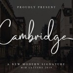 Cambridge Modern Signature Font