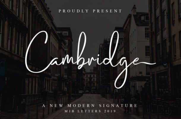 Cambridge Modern Signature Font