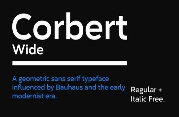 Corbert Sans Serif Font