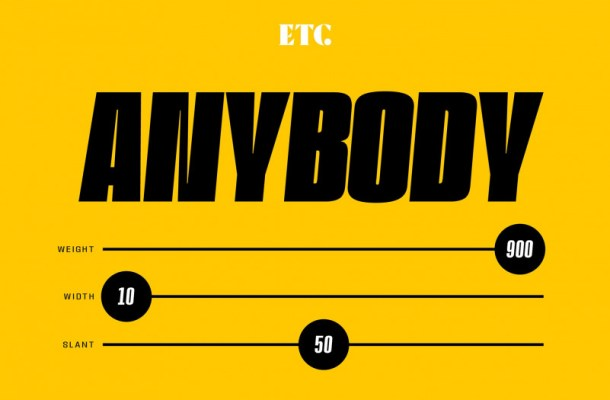 ETC Anybody Sans Font Family