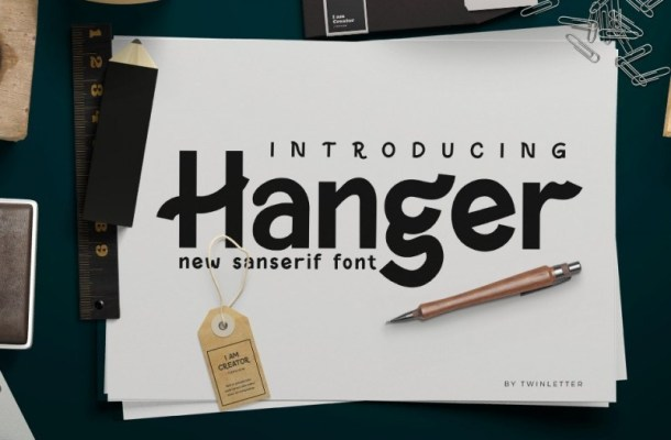 Hanger Display Font