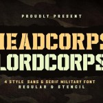 Headcorps & Lordcorps Display Military Font