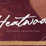 Heatwood Bold Signature Font