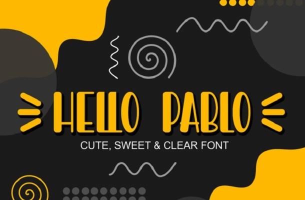 Hello Pablo Display Font