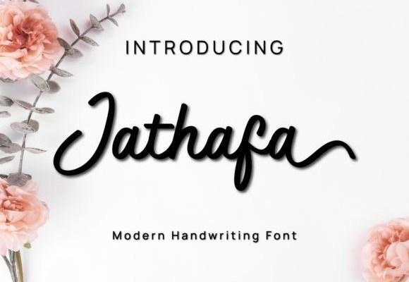 Jathafa Modern Handwritten Font