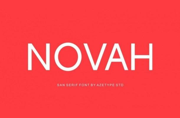 Novah Sans Serif Free Font