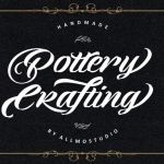 Pottery Crafting Script Font
