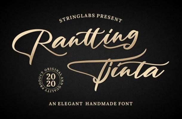 Rantting Tjinta Handwritten Font