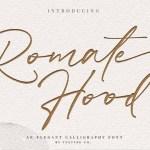Romate Hood Handwritten Font