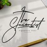 The Scientist Signature Font