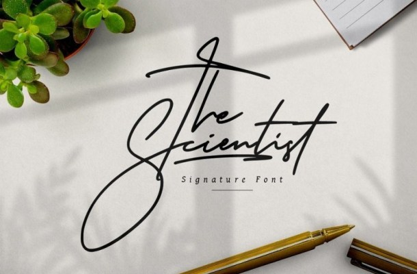 The Scientist Signature Font