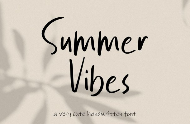 Summer Vibes Font