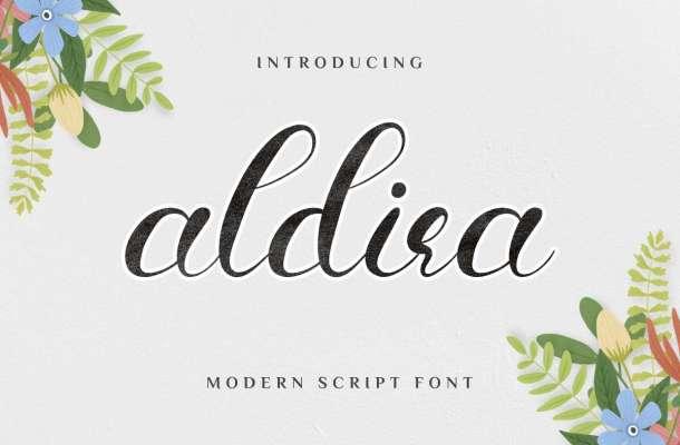 Aldira Calligraphy Script Font