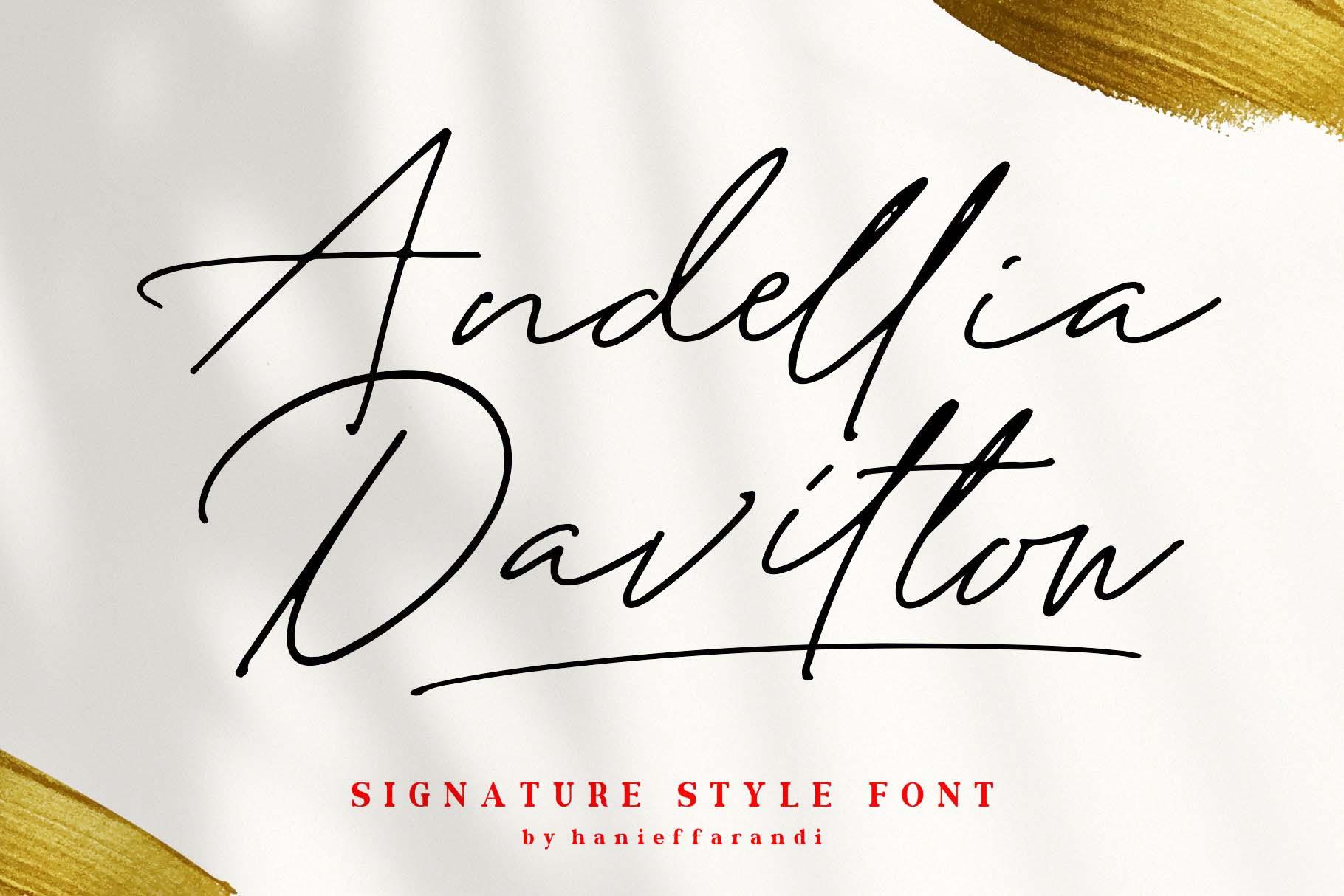 Andellia Davilton Signature Font-1