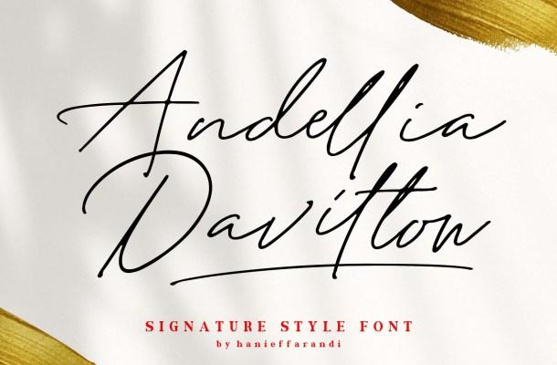 Andellia Davilton Signature Font