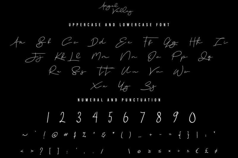 Angel Valley Handwritten Font-3