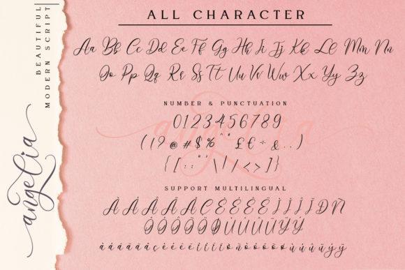 Angelia Calligraphy Font-3