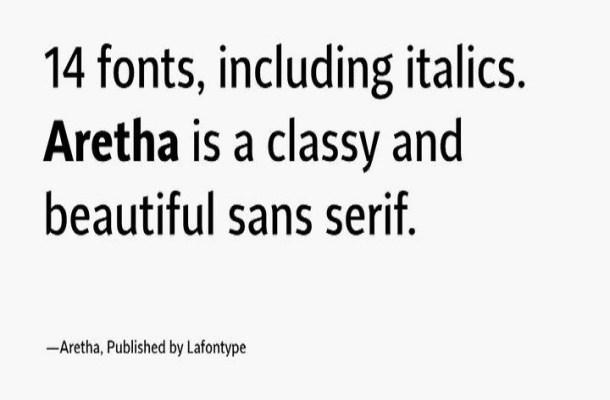Aretha Sans Serif Font