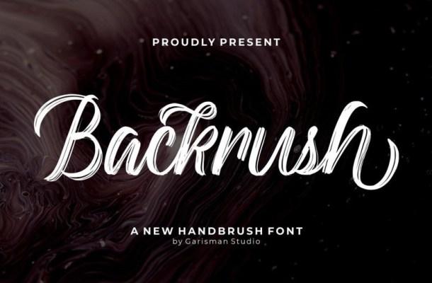 Backrush Handbrush Script Font