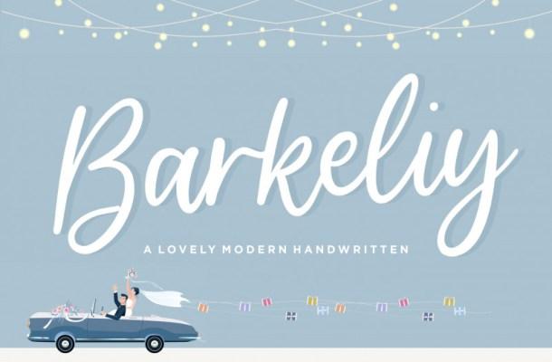Barkeliy Handwritten Font