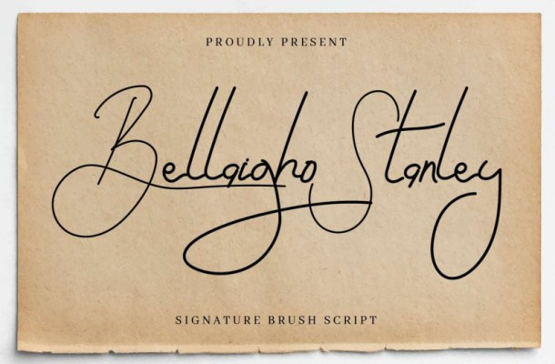 Bellaigho Stanley Signature Font