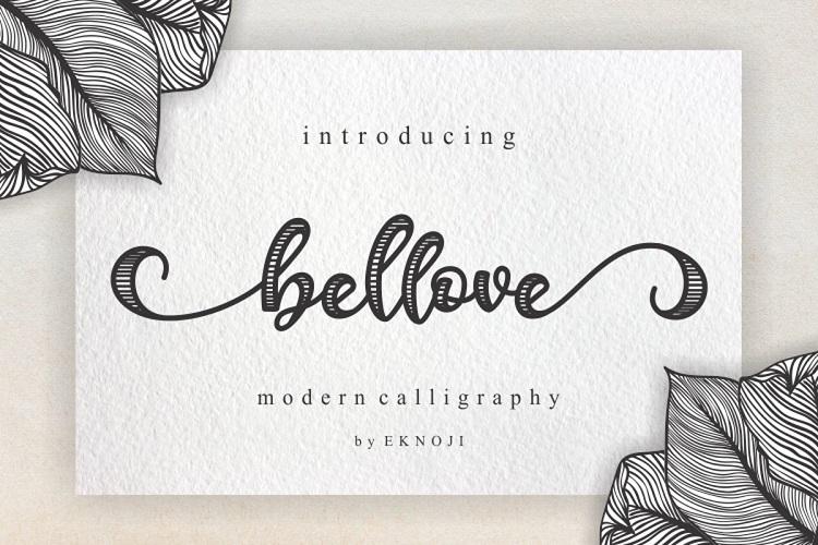 Bellove Modern Calligraphy Font-1