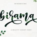 Birama Calligraphy Script Font
