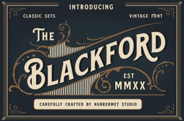 Blackford Serif Vintage Font